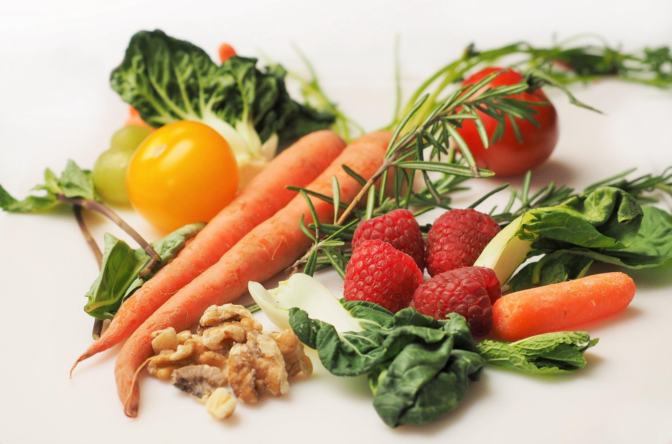 En masse sunde grøntsager