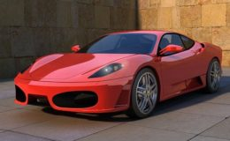 En rød Ferrari